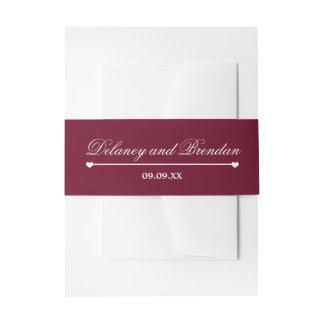 Mariage de Heartline (Bourgogne) Bandeaux De Faire-part