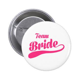 Mariage de jeune mariée d'équipe badge rond 5 cm