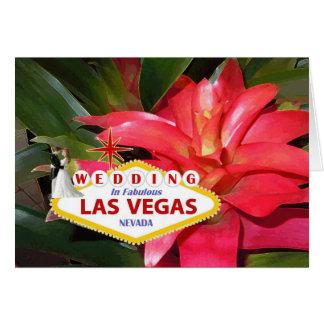 MARIAGE de jeune mariée et de marié à Las Vegas Carte De Vœux