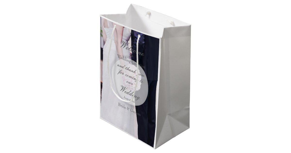 Mariage de jeune mari e et de mari sac cadeau moyen zazzle - Cadeau jeune marie ...