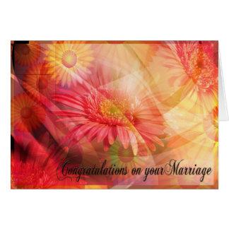 Mariage de mariage de félicitations carte de vœux
