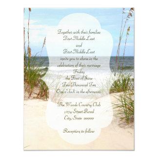 Mariage de plage carton d'invitation 10,79 cm x 13,97 cm
