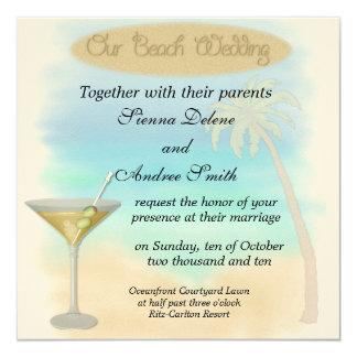 Mariage de plage carton d'invitation  13,33 cm