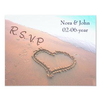 mariage de plage RSVP Carton D'invitation 10,79 Cm X 13,97 Cm