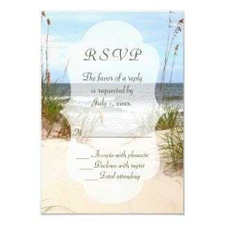 Mariage de plage RSVP Carton D'invitation 8,89 Cm X 12,70 Cm
