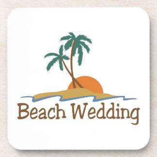 Mariage de plage sous-bocks