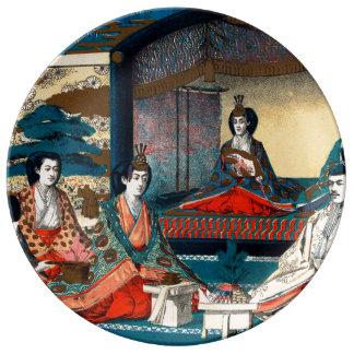 Mariage de Prince héritier Yoshihito Assiette En Porcelaine
