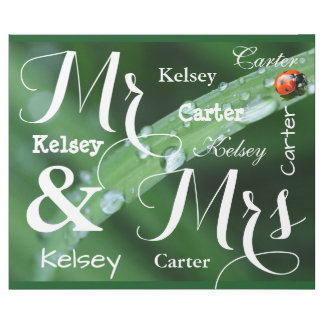 Mariage de printemps/noms personnalisés par papier cadeau