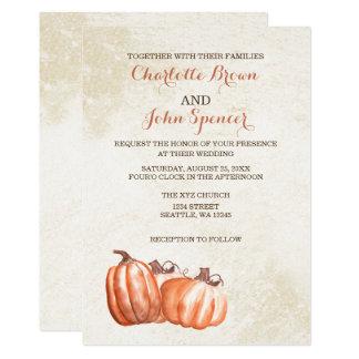 mariage de récolte de chute de citrouilles carton d'invitation  12,7 cm x 17,78 cm