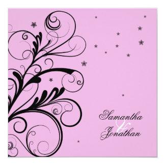 Mariage de remous et invitation floraux élégants