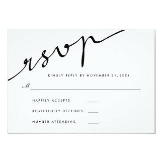 Mariage élégant simple de manuscrit de carton d'invitation 8,89 cm x 12,70 cm