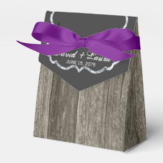 Mariage en bois rustique élégant de tableau ballotin pour dragées