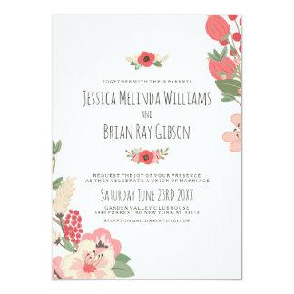 Mariage en pastel de jardin carton d'invitation  12,7 cm x 17,78 cm