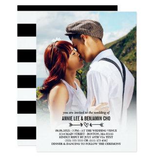 Mariage fait sur commande de photo de coeur et de carton d'invitation  12,7 cm x 17,78 cm