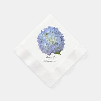Mariage fait sur commande d'hortensia de lune serviettes en papier