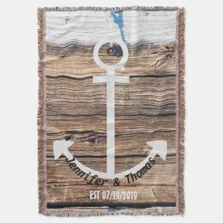 Mariage fait sur commande en bois de dock vintage couverture