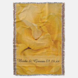 Mariage floral de rose jaune couverture