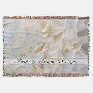 Mariage floral d'oeillet blanc couverture