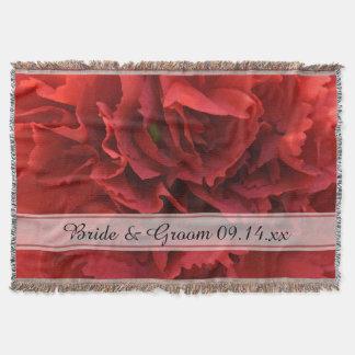 Mariage floral rouge couverture