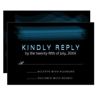 Mariage gothique rougeoyant élégant minimaliste de carton d'invitation 8,89 cm x 12,70 cm