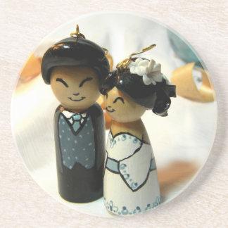 Mariage I de Kokeshi Dessous De Verres