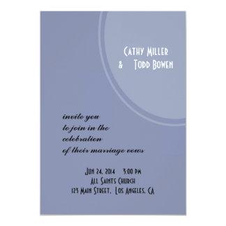 Mariage moderne bleu-clair carton d'invitation  12,7 cm x 17,78 cm