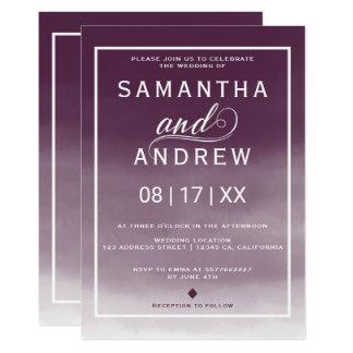 Mariage moderne de typographie d'aquarelle de carton d'invitation  12,7 cm x 17,78 cm