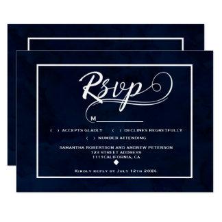 Mariage moderne du manuscrit RSVP d'aquarelle de Carton D'invitation 8,89 Cm X 12,70 Cm