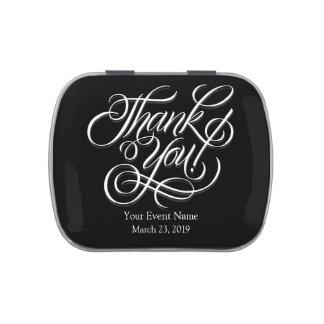 Mariage noir et blanc de cadeau de Merci Boites De Bonbons Jelly Belly