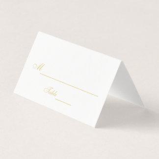 Mariage noir et blanc élégant carte de placement