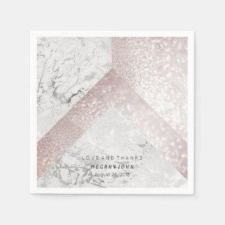 MARIAGE NUPTIALE d'or rose blanc de marbre Serviettes En Papier