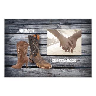 Mariage occidental en bois de cowboy de grange photographes