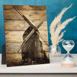 mariage occidental en bois rustique de grange de impressions sur plaque