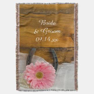 Mariage occidental rose de pays de marguerite et couvre pied de lit