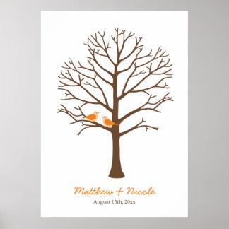 Mariage orange d'arbre d'empreinte digitale d'oise