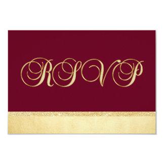 Mariage personnalisé de l'or RSVP d'automne de Carton D'invitation 8,89 Cm X 12,70 Cm