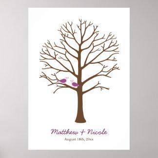 Mariage pourpre d'arbre d'empreinte digitale d'ois