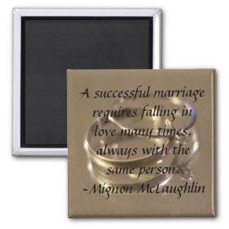 mariage réussi magnet carré