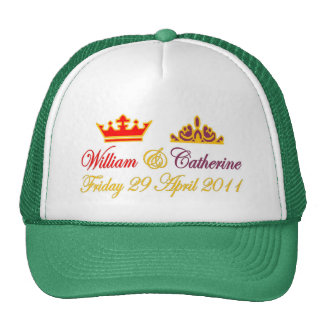 Mariage royal de William et de Catherine Casquette Trucker