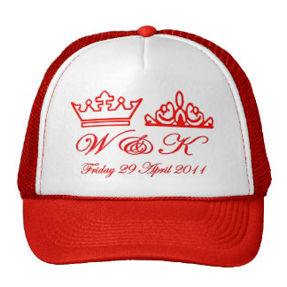 Mariage royal de William et de Kate Casquettes