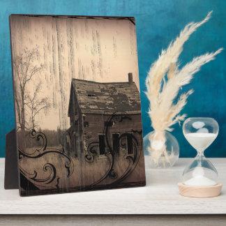 mariage rustique de grange de ferme de pays photo sur plaque
