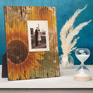 mariage rustique de tournesol de pays de carton impressions sur plaque