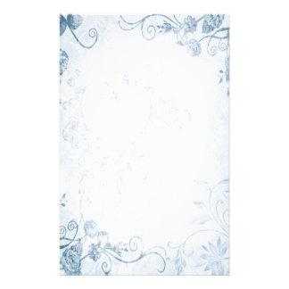 Mariage vintage bleu élégant papier à lettre customisable