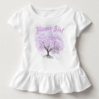 Mariage vintage d'oiseau d'arbre de lavande de t-shirt pour les tous petits