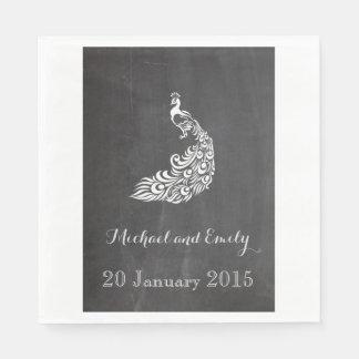 Mariage vintage romantique à la mode de tableau de serviette jetable