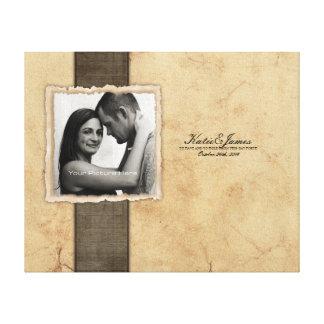 Mariage vintage rustique de photo de fiançailles toiles