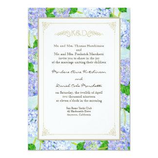 Mariages élégants formels floraux de dentelle carton d'invitation  12,7 cm x 17,78 cm