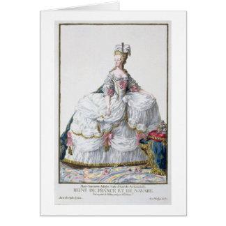 Marie Antoinette (1752-93) de 'DES Estam de Receui Carte De Vœux