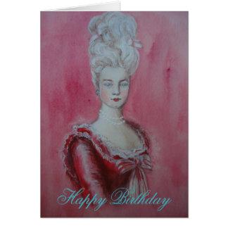 Marie Antoinette - carte d'anniversaire