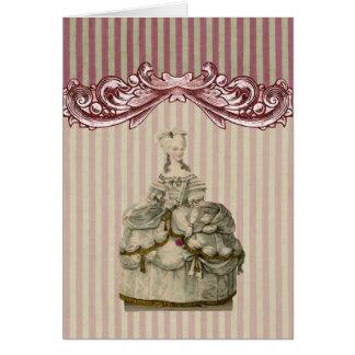 Marie Antoinette dans la carte exagérée de ~ de
